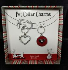 Pawsitively Spoiled Pet Collar Charm Crystal Heart Red Heart Lap Lover Lot C5-11