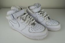 Nike Airforce quelli Air Force 1's AF1 MID UK 3 US 3.5Y Bianco 314195-113
