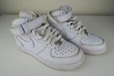 Nike AirForce Air Force Ones 1's AF1 Mid UK 3 US 3.5Y White 314195-113
