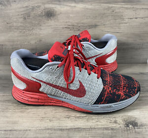 Nike iD Lunarglide VII 7 Women's Size 7.5 Athletic Running Training Shoes Red