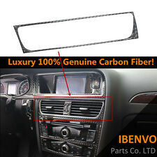 Genuine Carbon Fiber Front Console Vent Outlet Trim Luxury For Audi B8 A4 Q5 A5