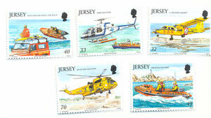 Jersey-rescue Craft mnh set-Helicopters-ships vessels-transport