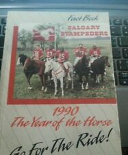 1990 CFL Calgary Stampeders fact book / media guide