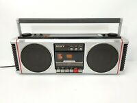 Vintage Sony 3D CFS-450 AM FM Stereo Cassette Tape Recorder Boom Box Working