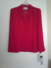 Dress suit, KASPER, cherry red, size 2, NEW.
