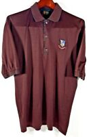 BOBBY JONES Golf Polo Shirt, Men's L Red & Green 1996 US Open Logo made in Italy