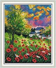 Maydear DIY Embroidery Kits Stamped Cross Stitch Kits - Beautiful Flowers
