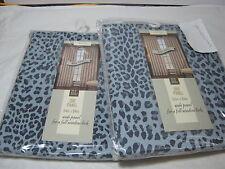 New BL Home Cheetah Print  Drapery Window Panel Pair - Blue/Black 108x84 NIP
