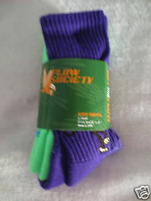 Flow Society 2 pack Kids Small Unisex Ultimate Stretch Socks Green /Purple New