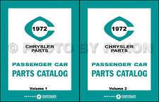 1972 Chrysler Dodge Plymouth Master Parts Book MoPar Illustrated Part Catalog