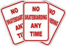 NO SKATEBOARDING ANYTIME PARKING SIGN * NEW * QUALITY ALUMINUM EXTERIOR SIGNS
