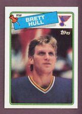 1988-89 TOPPS HOCKEY #66 BRET HULL RC NM-MINT St. Louis Blues Rookie Card