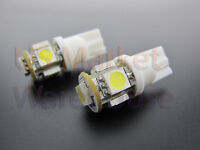 2x 5 SMD LED White SMT 5050 T10 168 194 W5W Wedge License Plate Light Bulbs