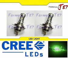 LED 30W 9003 HB2 H4 Green Two Bulbs Fog Light Replace Show Use Lamp Fit JDM