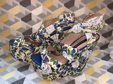 River Island Floral Fabric Wedge Heels Size 5