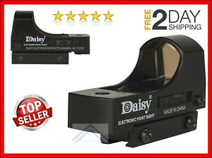 """BB Pellet Gun Air Rifle RED DOT SIGHT Wide Lens Reticle Scope Hunting Daisy 3/8"""""""