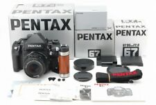 【Rare Brand New All】Pentax 67II with SMC P 90mm f2.8 Wood Grip from Japan 439