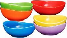 Bruntmor Ceramic Dessert Bowls Set of 6 Serveware Bowls Set 18 Oz Multi Color