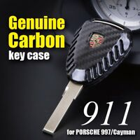 UK STOCK New REAL CARBON Remote Key Fob for PORSCHE 911 997 Cayman Boxster 987