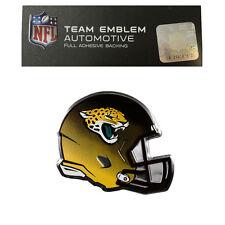 New NFL Jacksonville Jaguars Color Aluminum Helmet 3D Auto Emblem Sticker Decal