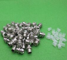 10PCS 3mm Clip Chrome Metal Bezel LED Holders Mounts CA NEW
