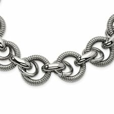 Chisel Stainless Steel Fancy Link Necklace MSRP $395