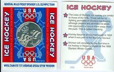 1998 Nagano Olympics US Ice Hockey Coin Medal General Mills Never Opened