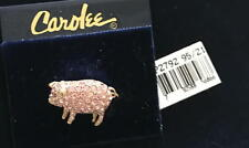 Carolee Pink Swarovski Crystal Pig Brooch Pin New In Pouch