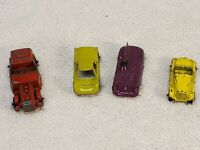 Lot Of Tootsietoy Cars Tootsie Toy Lesney Die Cast Jaguar model B Ford gt MG