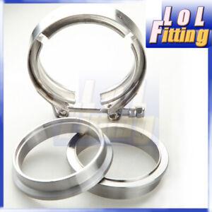 "2.5"" Mild Steel Self Aligning ""Male/Female"" Flanges + 304 SS V-Band Clamp Kit"