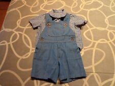 Conjunto de peto vaquero y camisa para bebé. Usado. Mira mis otros  artículos. 425e837a267e