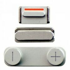 3 In 1 Side Button Set Silver For iPhone 5 5G With Power, Volume & Mute Button