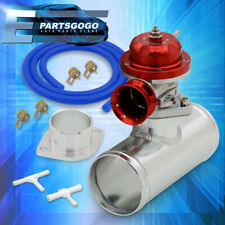 Universal Red Type-RS Style Turbo Blow Off Valve 2-Bolt w/ Adapter Pipe Set