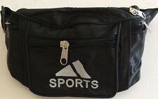 Bum Bag SPORTS BLACK COLOR Pack Travel Holiday Bumbag UK SELLER FAST & FREE P&P