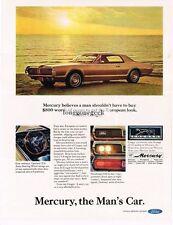 1967 Mercury Cougar Gold 2-door Hardtop Vtg Print Ad