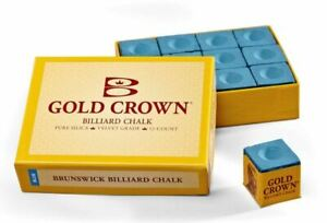 Brand New Pool Table Accessories Brunswick Blue Billiard Chalk - 12 Pieces