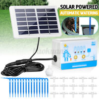 Solar Automatic Water Irrigation System Drip Device Plant Pot Watering Garden