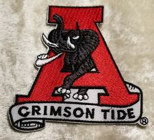 Alabama Crimson Tide Elephant Name Iron/Sew On Embroidered Patch ~FREE Ship`!!