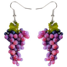Acrylic Sweet A Bunch Of Grape Earrings Dangle Novelty Jewelry For Women Charms