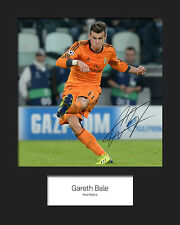 GARETH BALE #2 10x8 SIGNED Mounted Photo Print - FREE DELIVERY