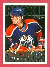 "1994-95 TOPPS PREMIER (HKY) Jason Arnott ""ROOKIE SENSATIONS"" RC CARD #193 OILERS"