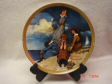 Waiting on the Shore - Norman Rockwell - Knowles Collection Plate