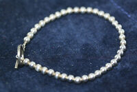 "Vintage Mexican Ball Bead Real 925 Solid Sterling Silver Girl's Bracelet 7"" 4 MM"