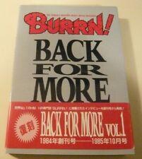 BURRN! Back For More Vol. 1 Japan Small Paperback Book