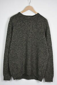 COS Men's X LARGE 100% Wool Melange Crew Pullover Sweater 35905-GS