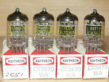 4 NIB Raytheon 5670WA Tubes (USA WIndmill Getter)