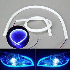 60cm Blue Car LED Strip Light Flexible Soft Tube DRL Daytime Running Lamp Pair