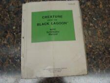 Creature from the Black Lagoon Pinball Machine Service Manual, Atlanta (703)
