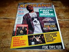 KERRANG! magazine 1992 w/ FAITH NO MORE black crowes OZZY stone temple pilots NM