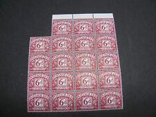 SG D73, 1968, 6d Purple, Postage Due No Watermark  PVA Gum. MNH